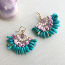 Turquoise design pierced