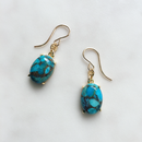 Copper turquoise pierced