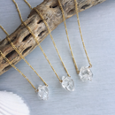 Double Terminated crystallized necklace