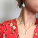 Pearl & rainbow moonstone necklace
