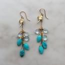 Turquoise & aquamarine pierced