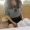 《再販》cashmere knit T-shirt  / sora