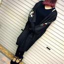 SALE ☆ 刺繍 ニットロングカーディガン