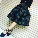 刺繍 フレアスカート