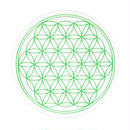 flower of life sticker green (sst002_4)