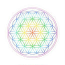 flower of life sticker rainbow (sst001)