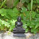 antique black buddha object (go010)