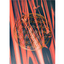 """flower of life"" postcard -red fire × gold- (spc003-5)"