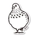 鳩イラストステッカー(2g)