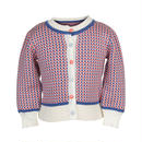 classic cardigan/fly away/blue & coral 2-4y