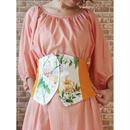 LYS -fantasia for your dress- アメリカ製ヴィンテージ・フラワーファブリック使用 ビスチェ [orange type 2 ]