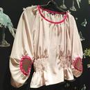 Marie バイカラーブラウス [beige/pink]