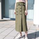 ベルト付きトレンチスカート