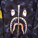A BATHING APE  1ST CAMO SHARK CREWNECK[BLUE ]