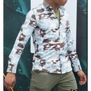 星とカモフラージュのコンビがスタイリッシュ/爽やかなカラーシャツ