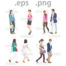 ファミリーイラスト (EPS , PNG )   fa_007