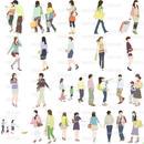 人物イラスト - 線画タイプ - 20個セット 4ill_02