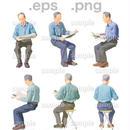 シニアイラスト (EPS , PNG )   se_054