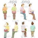 シニアイラスト (EPS , PNG )   se_079