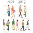 ファミリーイラスト (EPS , PNG )   fa_020