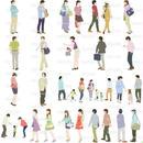 人物イラスト - 線画タイプ - 20個セット 4ill_04