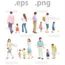 ファミリーイラスト (EPS , PNG )   fa_016