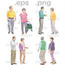 シニアイラスト (EPS , PNG )   se_109