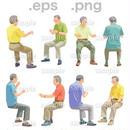 シニアイラスト (EPS , PNG )   se_163
