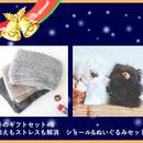 冬のギフトセット#6 ふわふわショール&テディベアセット(冷えと一緒にストレスも解消!)