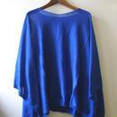 ポンチョ (ピマコットン100%)ブルー