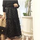 ツヤチュールドットスカート