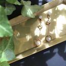 Perl stick earring & pierce