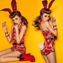 red bunny スパンンコールカチューシャ