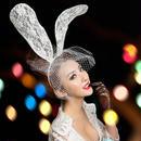 white bunny ear カチューシャ