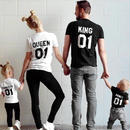"子供用Tシャツ ""princess""and""prince"" of the family T shirts"