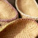 麻たわし:限定新色x3色 *手編み・国内フェアトレード*
