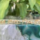 Lea,  Lea♡ ,🌊ea, Lea🌊(ハワイ語 希望、喜び)ワイヤーリング ($68)