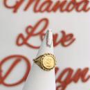 1点物 24k ハワイ最後の女王 リリウオカラニ女王 ハワイコインリング($2800)