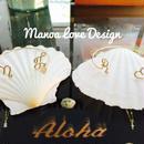 Manoa Love Design/Twoイニシャル カフブレスレット