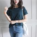 アンティーク・袖房飾りTシャツ - 4Color