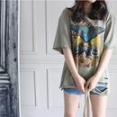 カラービンテージTシャツ - 2Color