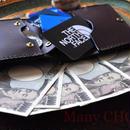 イタリアンバケッタ・ミネルバリスシオ・革新のプエブロ・コンパクト2つ折り財布(ショコラ)