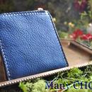 イタリアンオイルレザーアリゾナ・L型財布(アルノブルー)