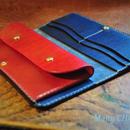 革の宝石・ルガトー・長財布(紺×赤)