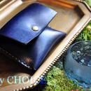 革の宝石ルガトー・コインケース(紺)