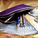 革の宝石ルガトー・L型ペンケース(紫)