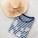 いちごの半袖Tシャツ(ブルー)
