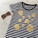 いちごのTシャツ (ブラック)