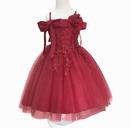 (即納)♡レッド♡キッズ♡ドレス♡女の子♡結婚式♡発表会♡110-150size♡(042)