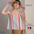 【Liyoca】 Striped Summer Tops